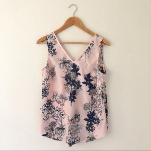 Banana Republic Pink Floral Blouse